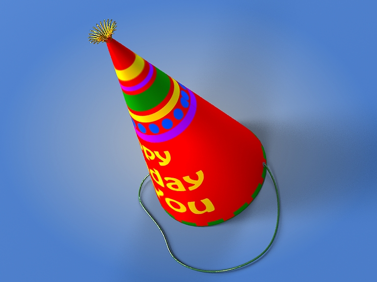 birthday hat 3d model 3ds max fbx obj 207107