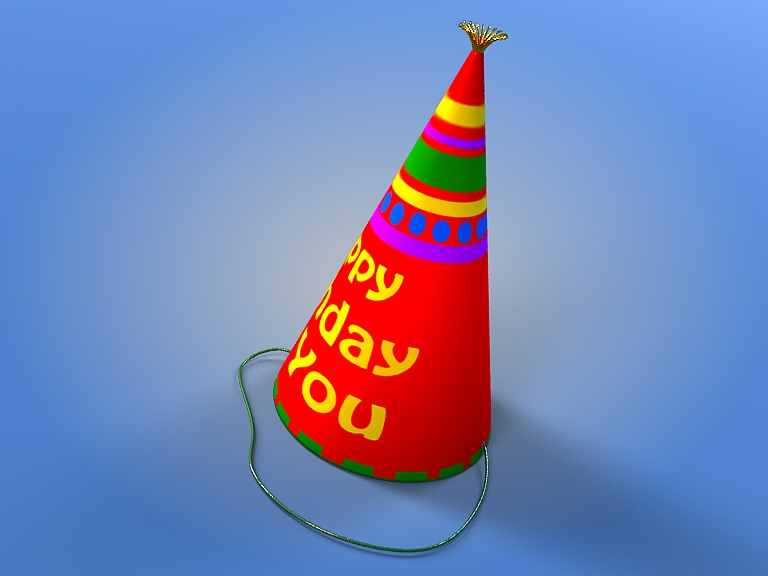 birthday hat 3d model 3ds max fbx obj 207108