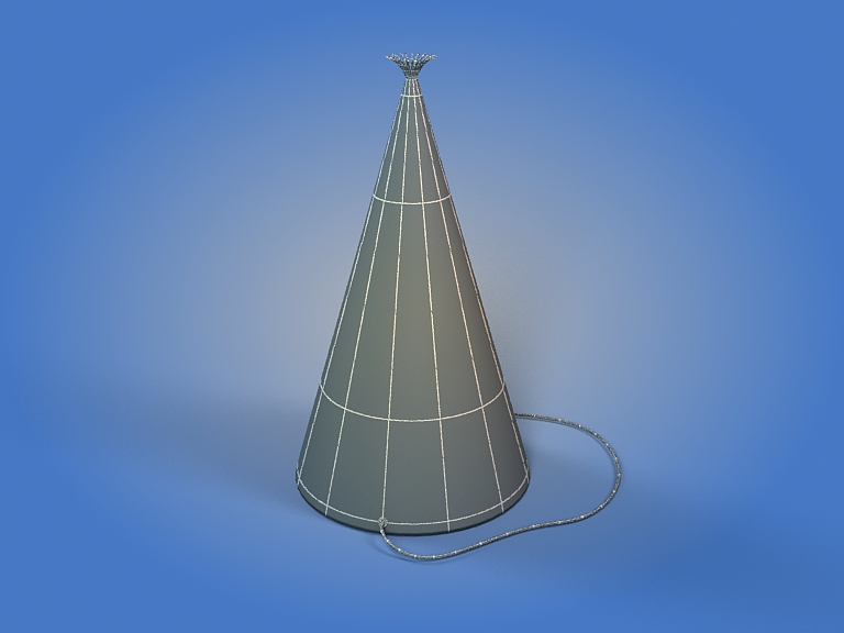 birthday hat 3d model 3ds max fbx obj 207109