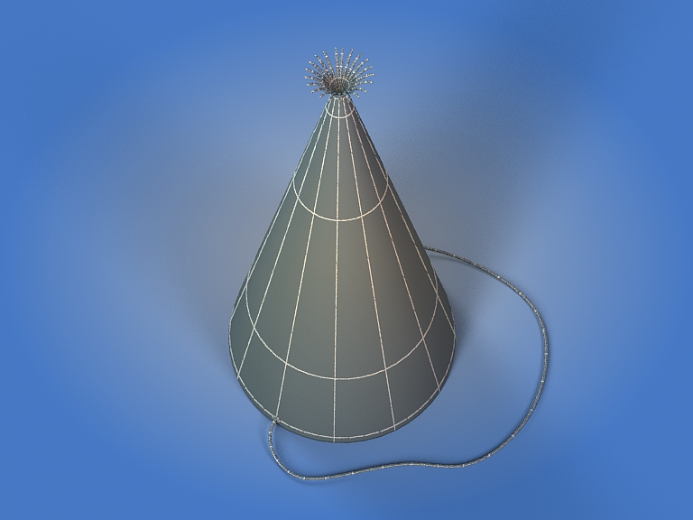 birthday hat 3d model 3ds max fbx obj 207110