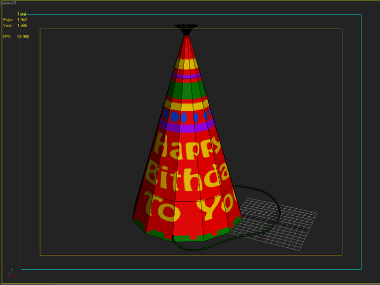 birthday hat 3d model 3ds max fbx obj 207111