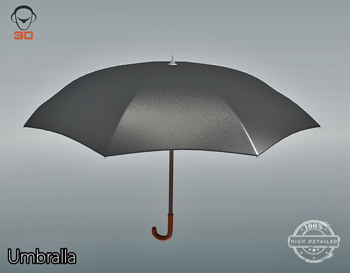 umbrella 3d model 3ds max fbx obj 207113