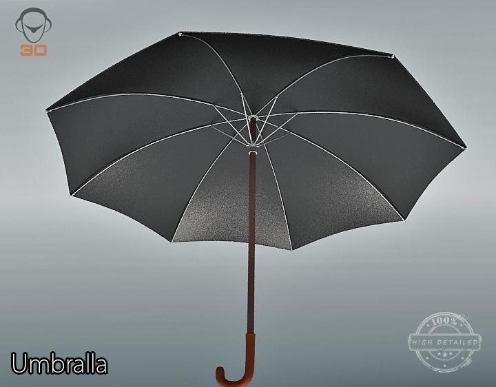 umbrella 3d model 3ds max fbx obj 207114