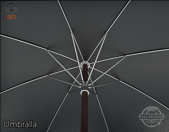 umbrella 3d model 3ds max fbx obj 207115