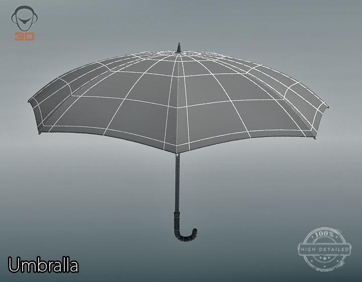 umbrella 3d model 3ds max fbx obj 207116