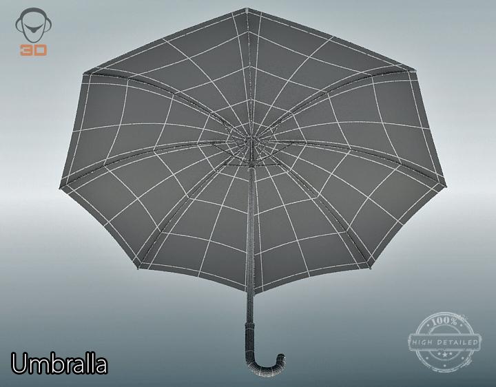 umbrella 3d model 3ds max fbx obj 207117