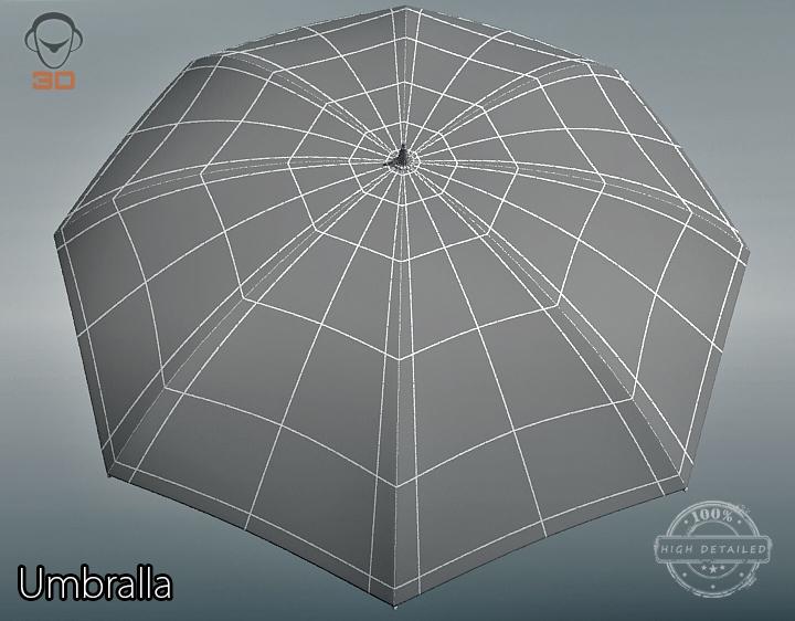umbrella 3d model 3ds max fbx obj 207118