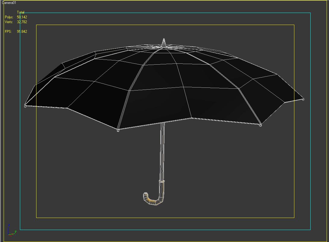 umbrella 3d model 3ds max fbx obj 207119