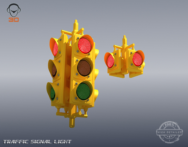 traffic signal light 3d model 3ds max fbx obj 207121