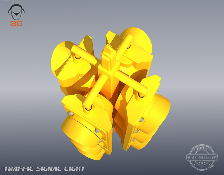 светло за сообраќајни сигнали 3d модел 3ds максимум fbx obj 207124