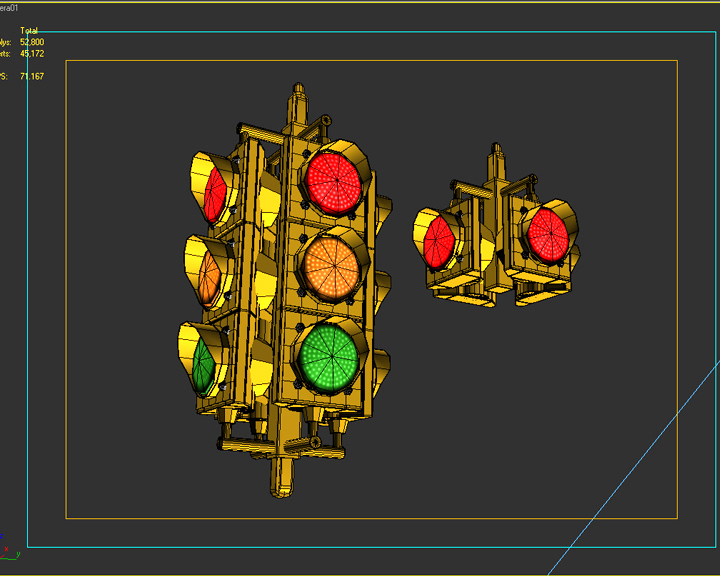 traffic signal light 3d model 3ds max fbx obj 207128
