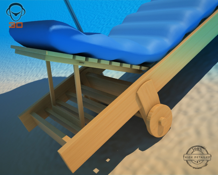 beach chair umbrella 3d model 3ds max fbx obj 207135