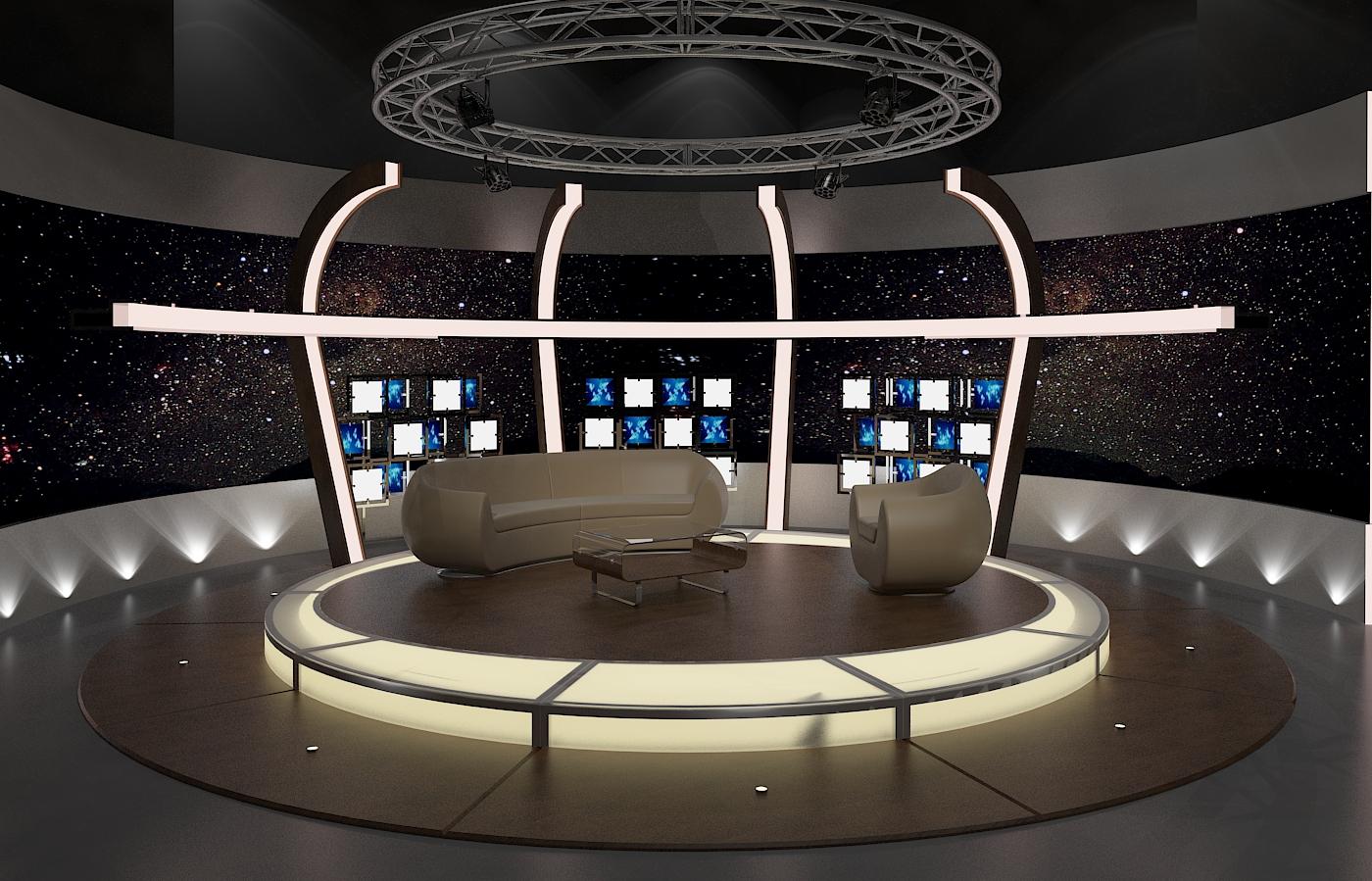 Virtual tv chat set 20 3d model buy virtual tv chat set 3d virtual design