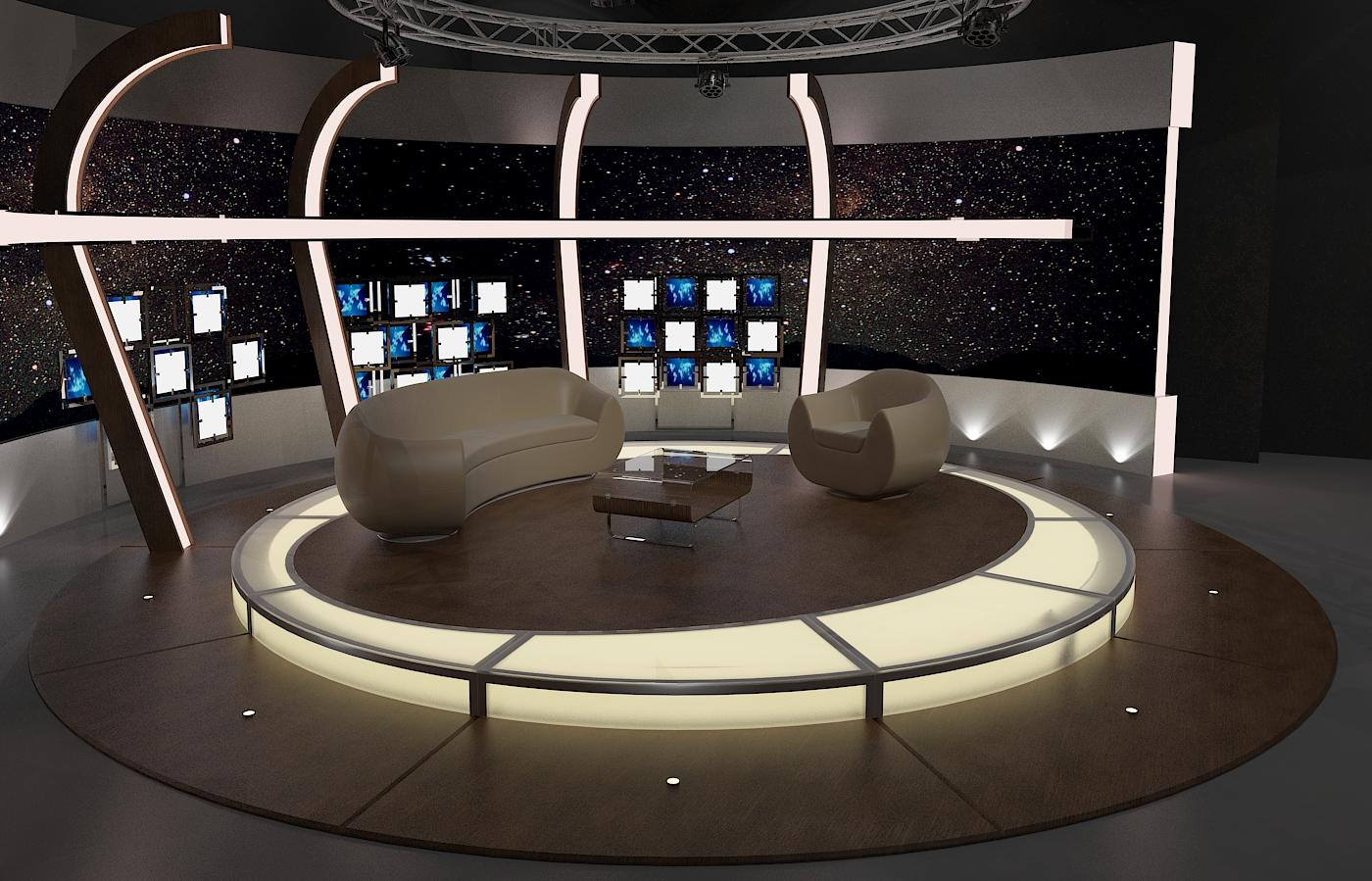 virtual tv chat set 20 3d model max dxf fbx obj 207146