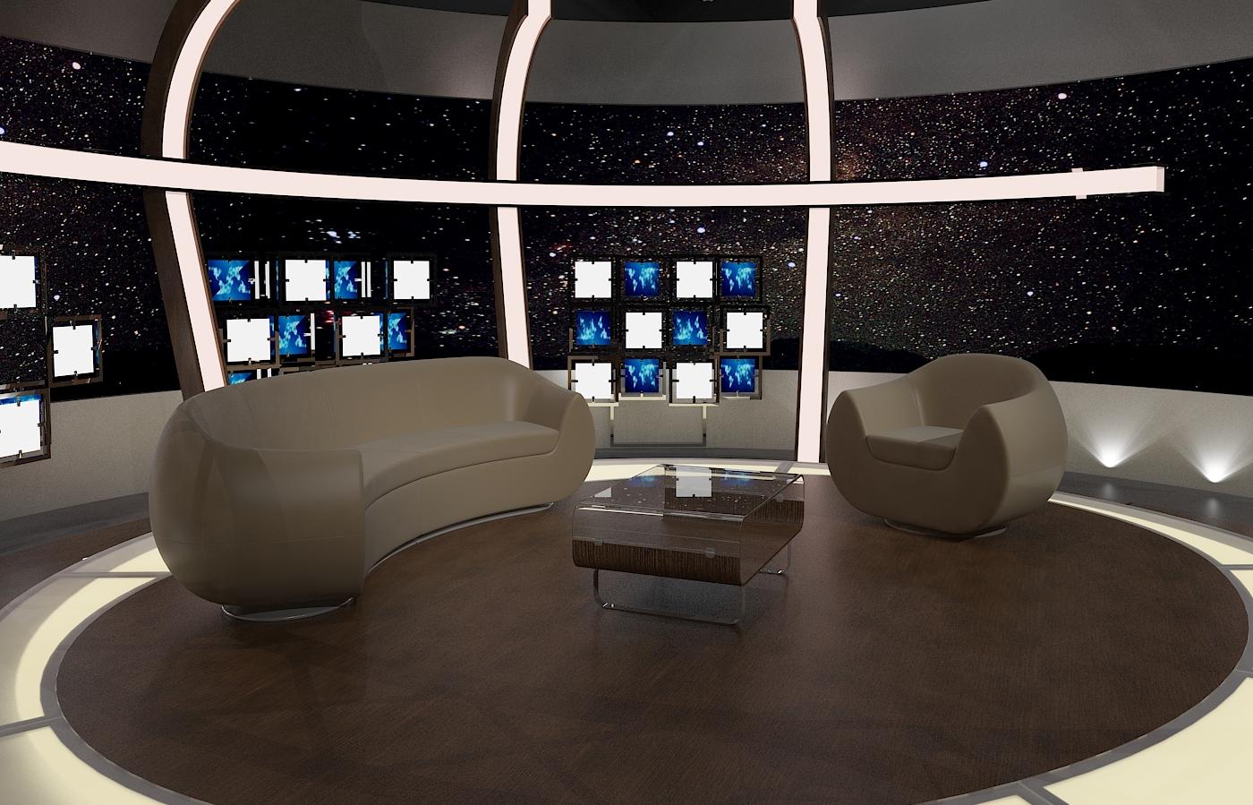 virtual tv chat set 20 3d model max dxf fbx obj 207148