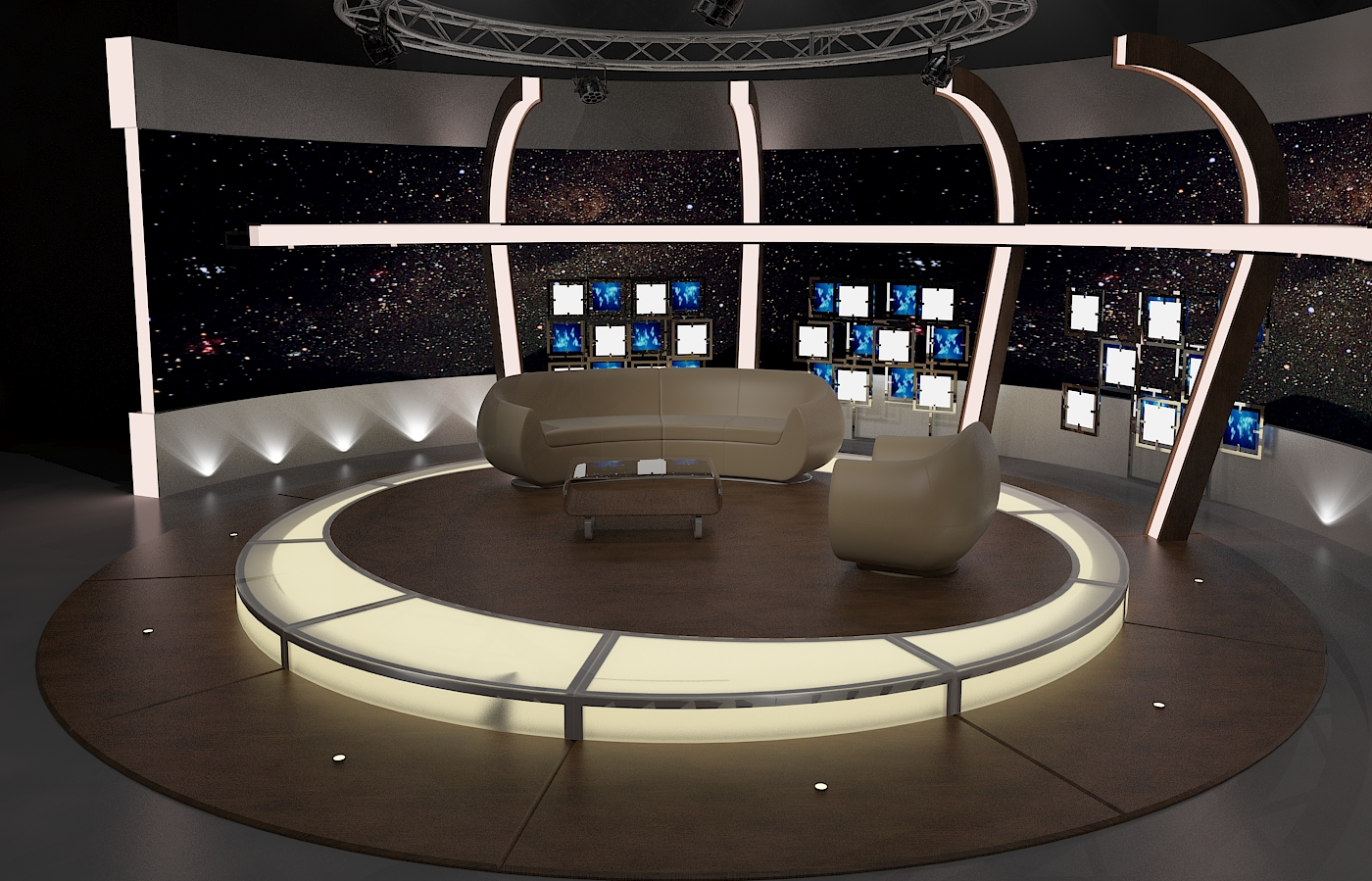 virtual tv chat set 20 3d model max dxf fbx obj 207150