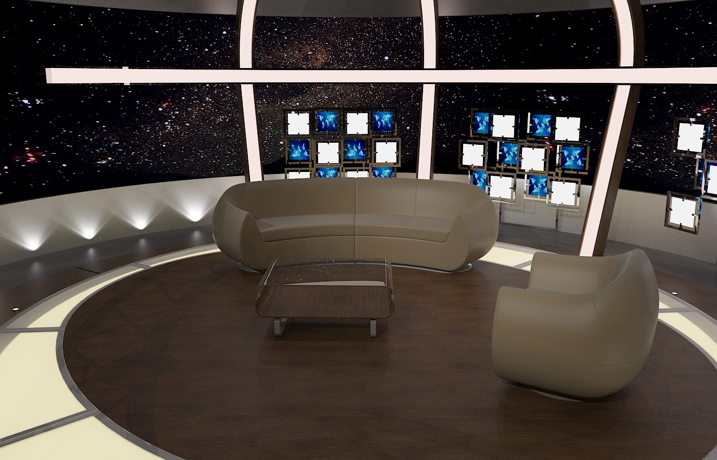 virtual tv chat set 20 3d model max dxf fbx obj 207152