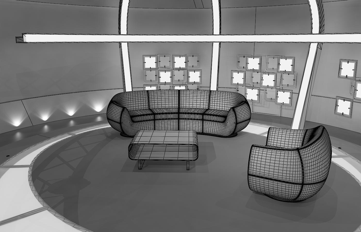 virtual tv chat set 20 3d model max dxf fbx obj 207153