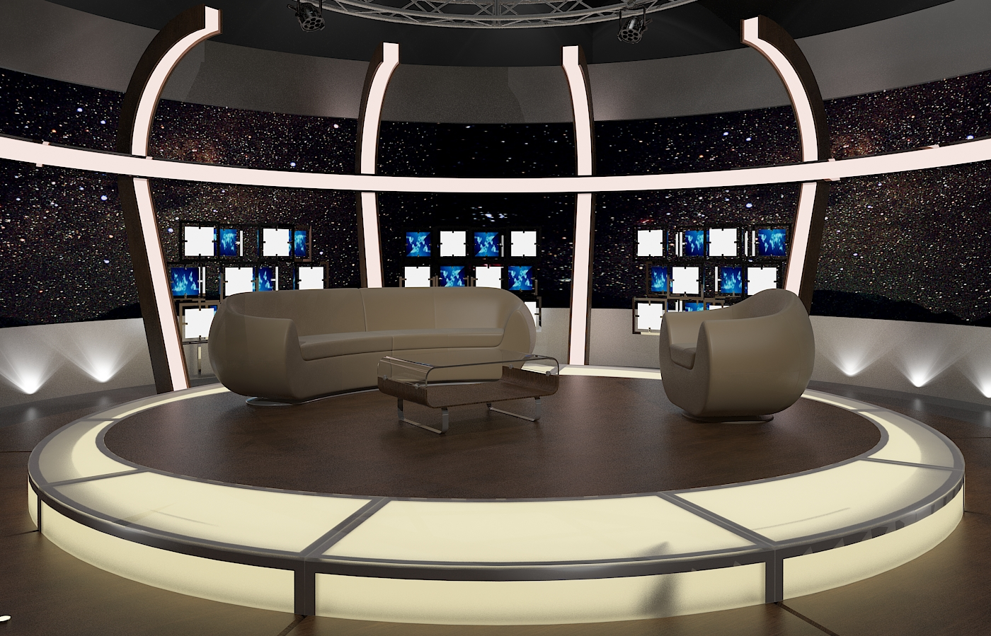 tv studio furniture. Virtual TV Chat Set 20 3d Model Max Dxf Fbx Obj Tv Studio Furniture I