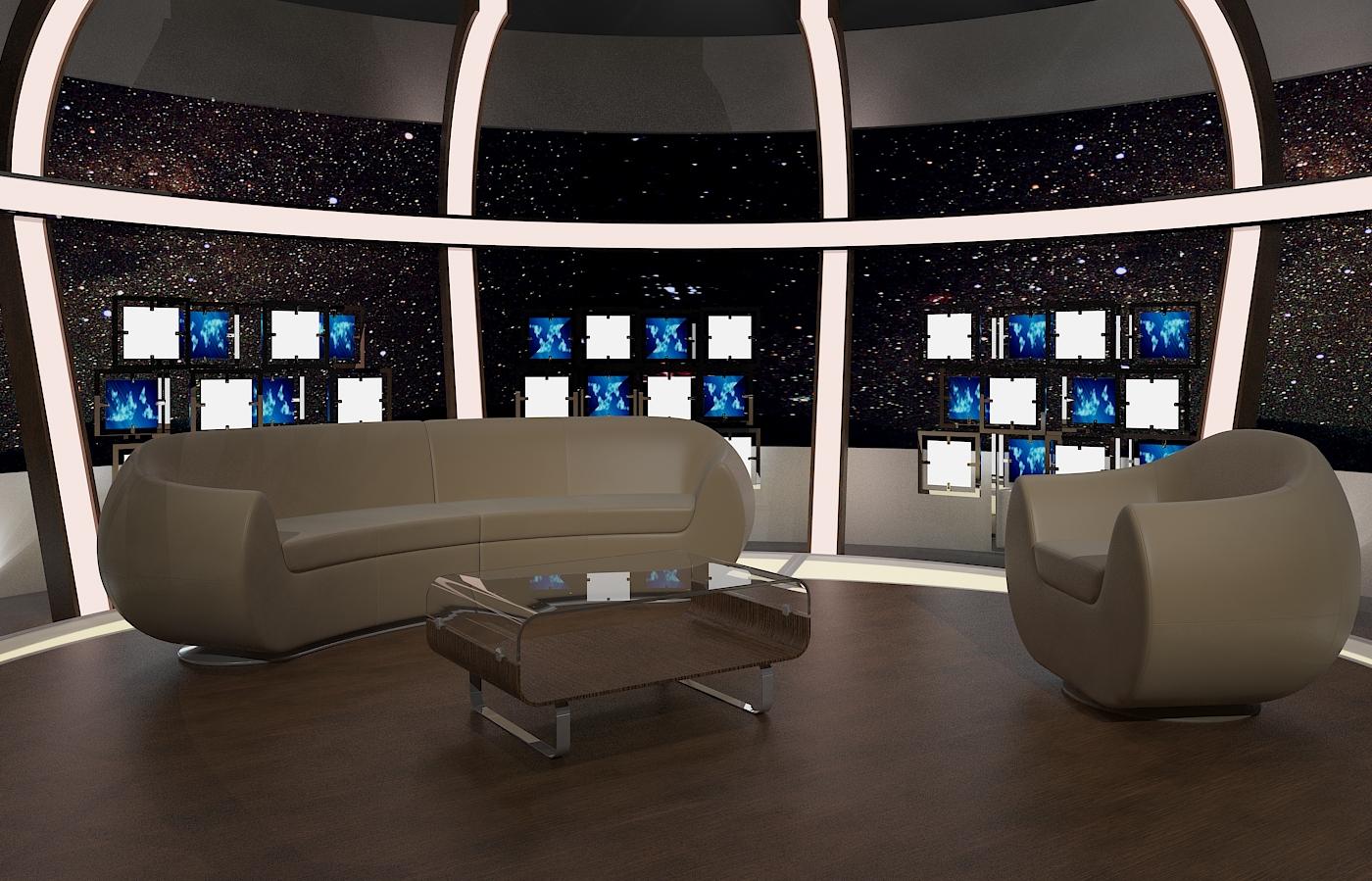 virtual tv chat set 20 3d model max dxf fbx obj 207156
