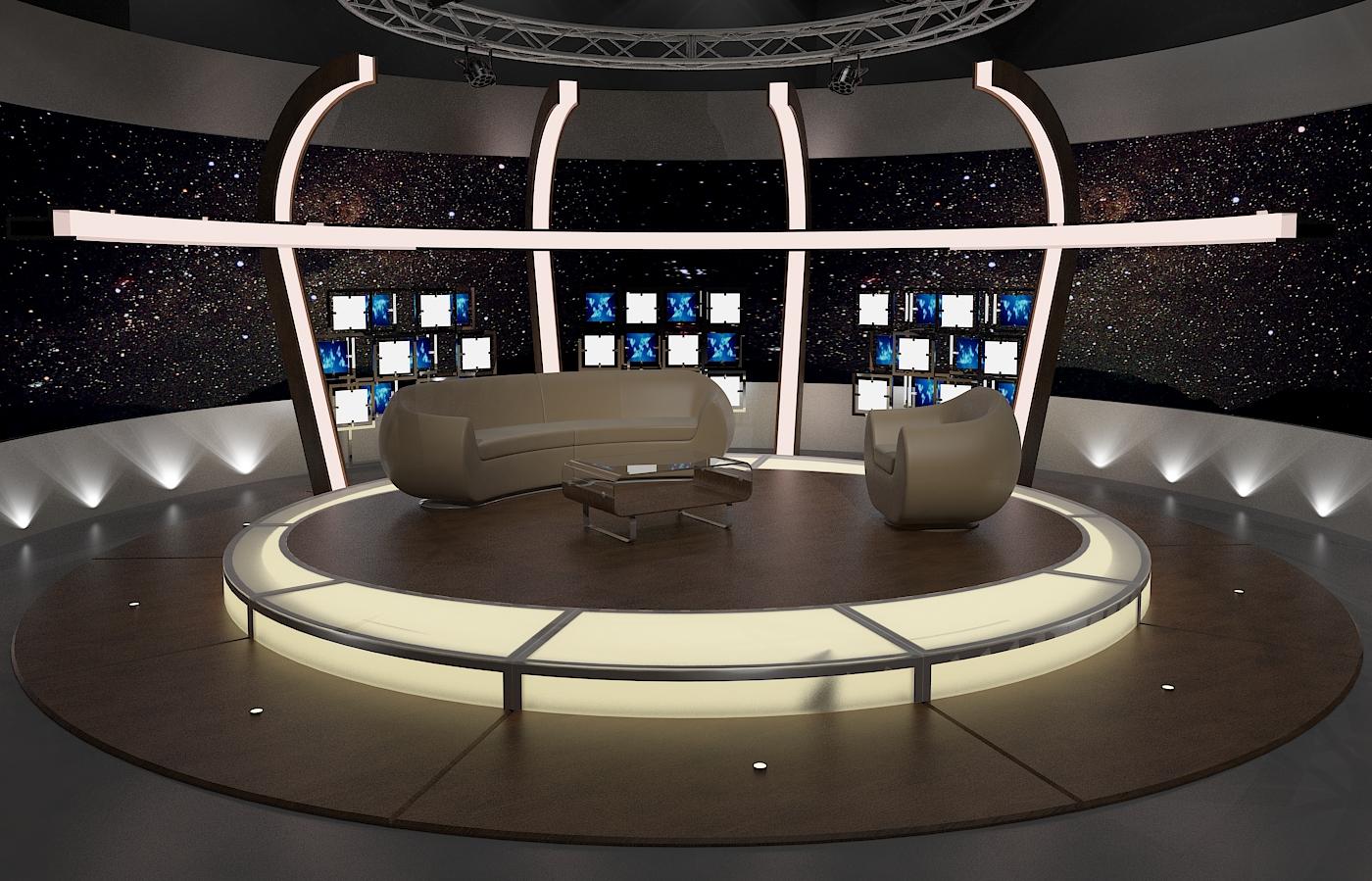 virtual tv chat set 20 3d model max dxf fbx obj 207158