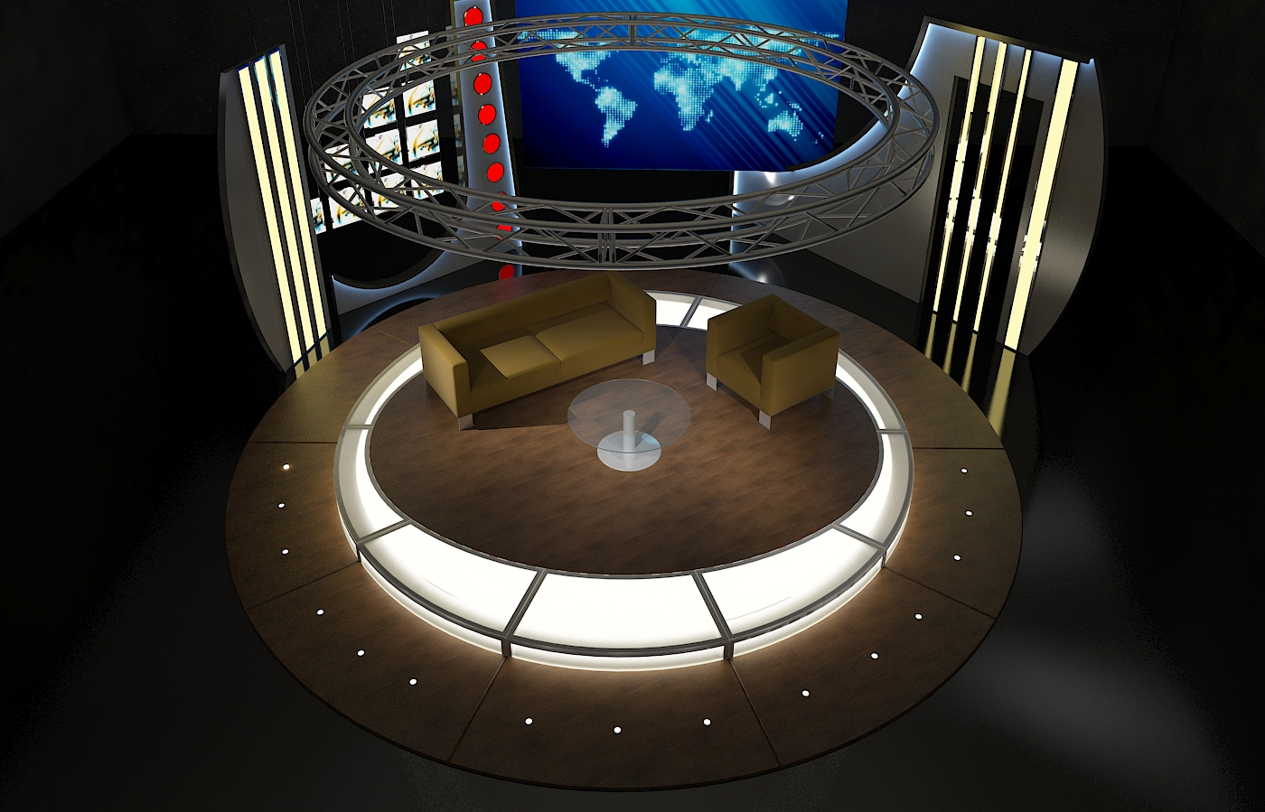 virtual tv chat set 19 3d model max fbx obj 207172