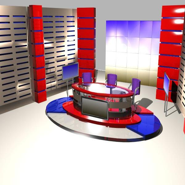 news studio 004 3d model 3ds max dxf fbx texture obj 207236