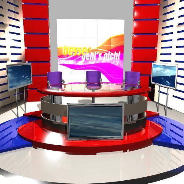news studio 004 3d model 3ds max dxf fbx texture obj 207238