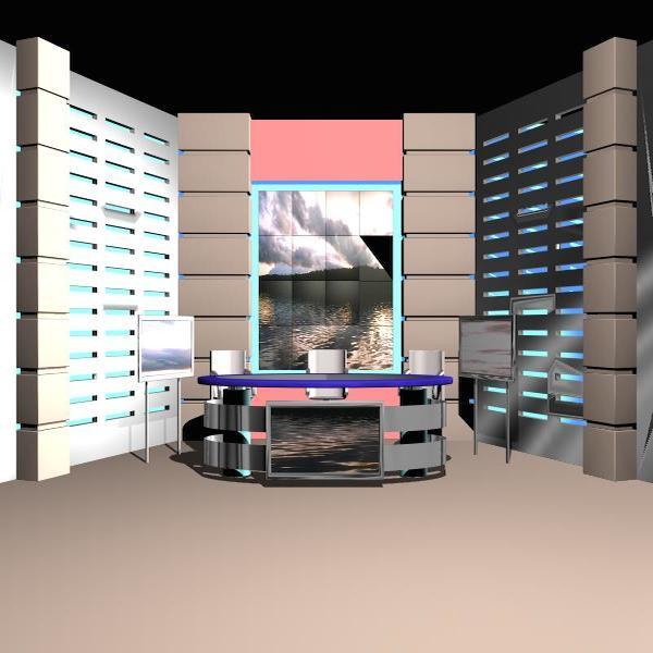 news studio 004 3d model 3ds max dxf fbx texture obj 207239