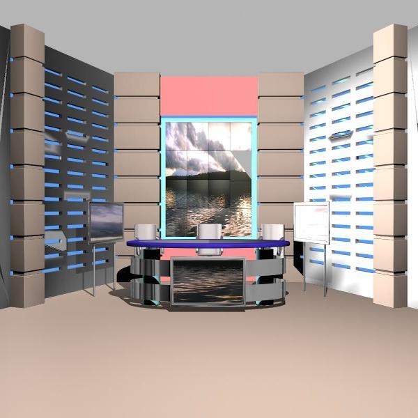 news studio 004 3d model 3ds max dxf fbx texture obj 207240