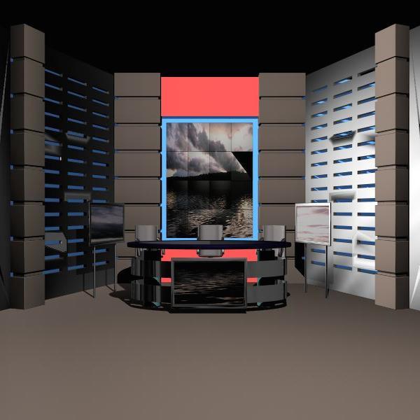 news studio 004 3d model 3ds max dxf fbx texture obj 207241
