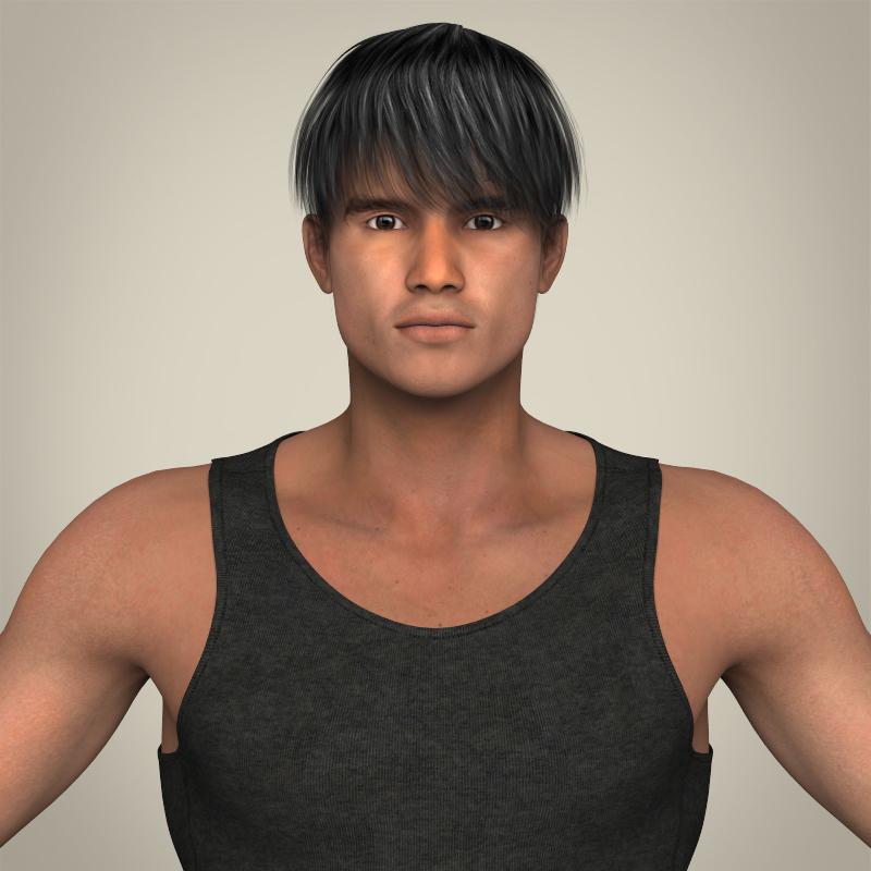 Realistic Muscular Handsome Guy 3d model 3ds max fbx c4d lwo lws lw ma mb  obj 207244