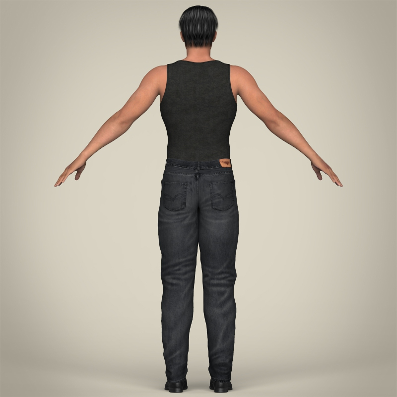 realistic muscular handsome guy 3d model 3ds max fbx c4d lwo ma mb texture obj 207255