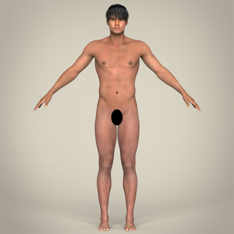 realistic muscular handsome guy 3d model 3ds max fbx c4d lwo ma mb texture obj 207259