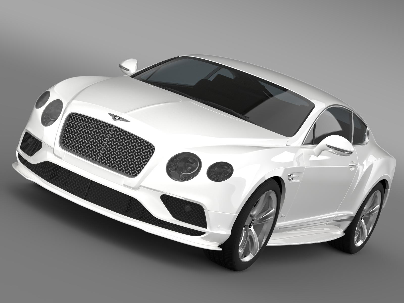 bentley continental gt speed 2015 3d model 3ds max fbx c4d lwo ma mb hrc xsi obj 207266