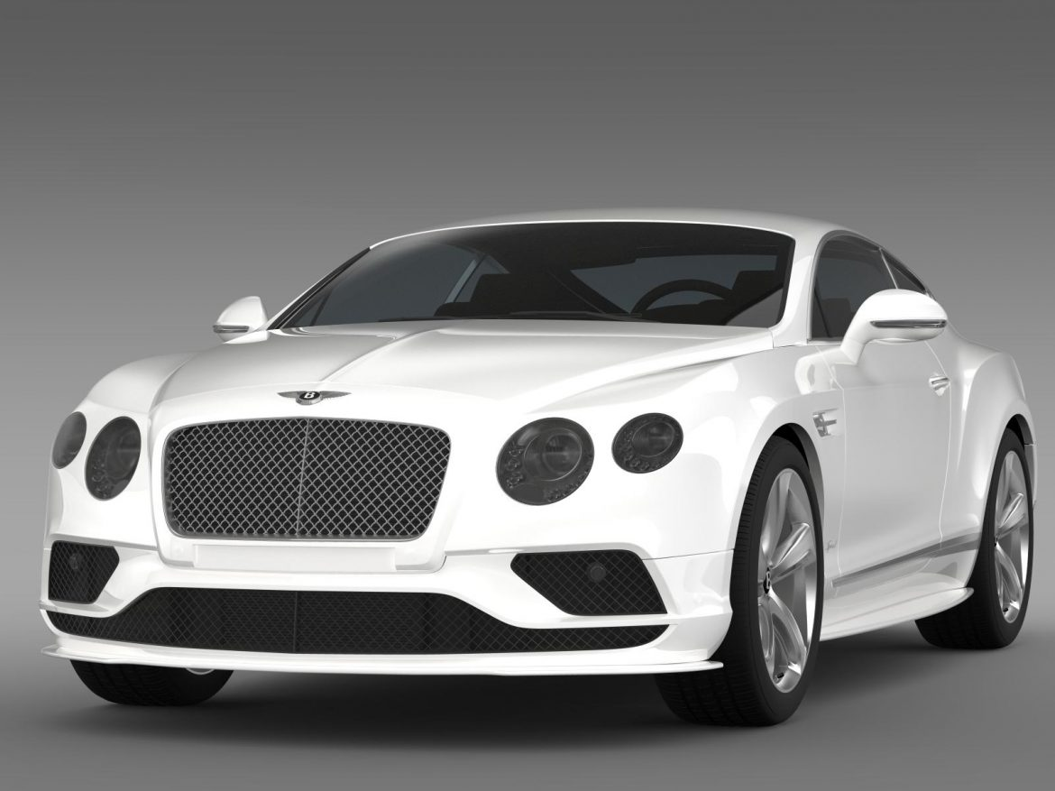bentley continental gt speed 2015 3d model 3ds max fbx c4d lwo ma mb hrc xsi obj 207268