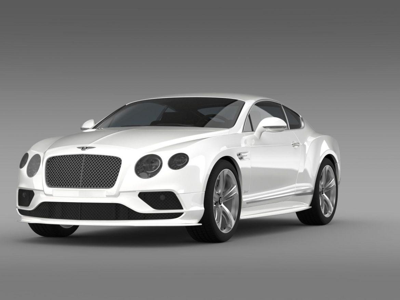 bentley continental gt speed 2015 3d model 3ds max fbx c4d lwo ma mb hrc xsi obj 207269
