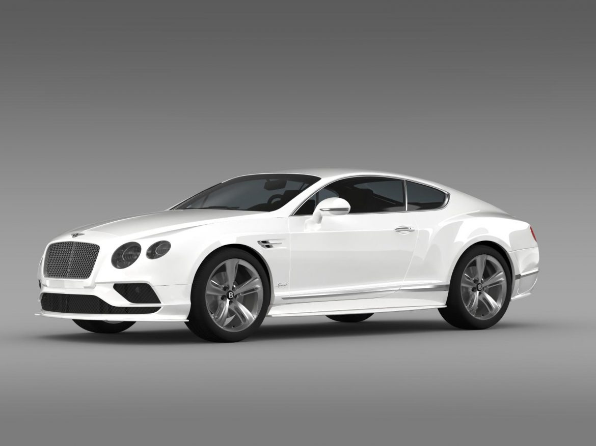 bentley continental gt speed 2015 3d model 3ds max fbx c4d lwo ma mb hrc xsi obj 207270