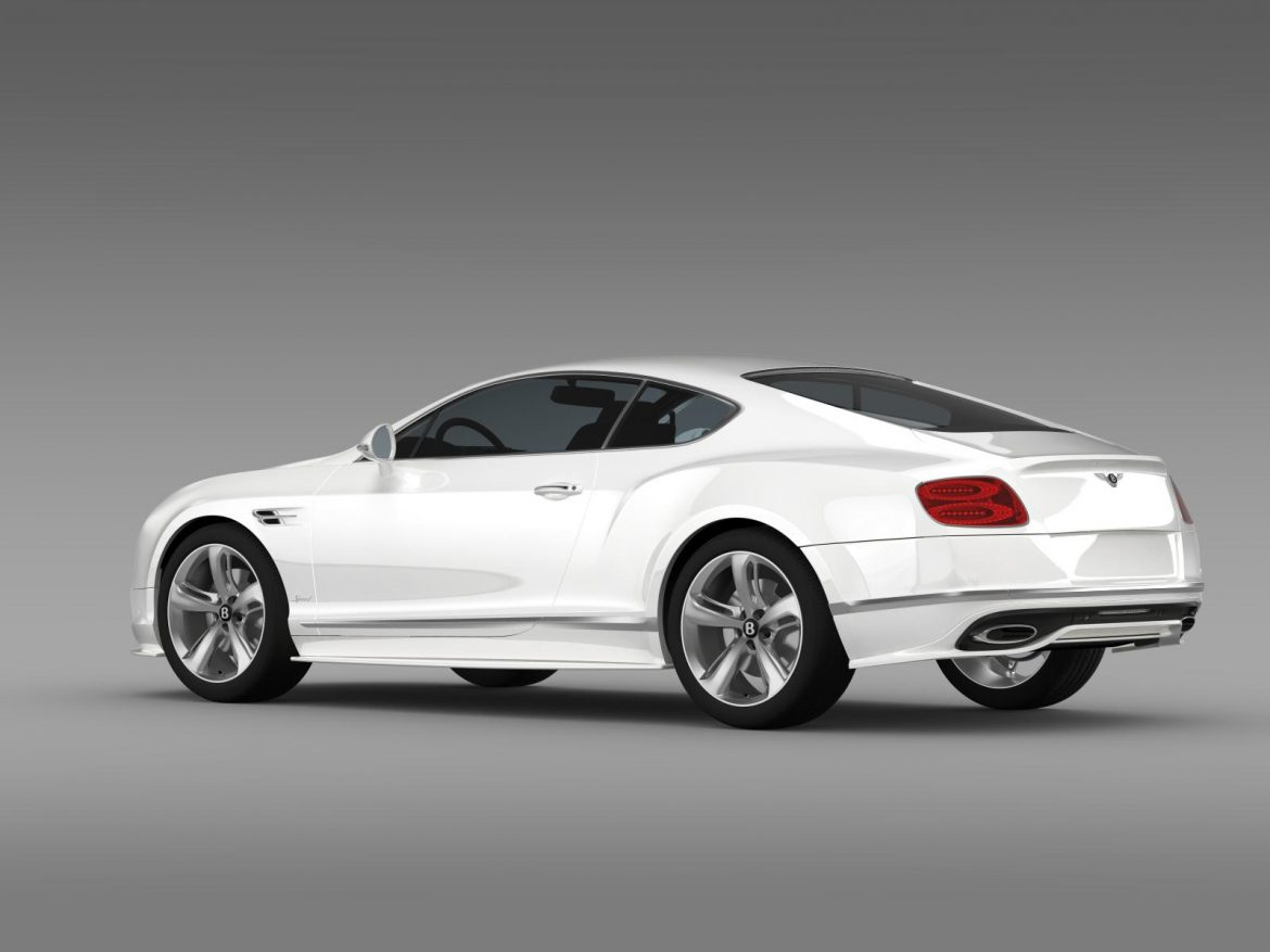 bentley continental gt speed 2015 3d model 3ds max fbx c4d lwo ma mb hrc xsi obj 207272