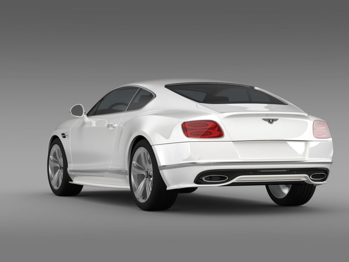 bentley continental gt speed 2015 3d model 3ds max fbx c4d lwo ma mb hrc xsi obj 207273