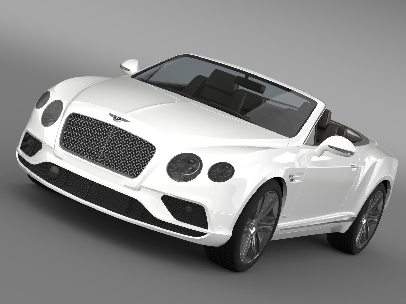 bentley continental gtc 2015 3d model 3ds max fbx c4d lwo ma mb hrc xsi obj 207286