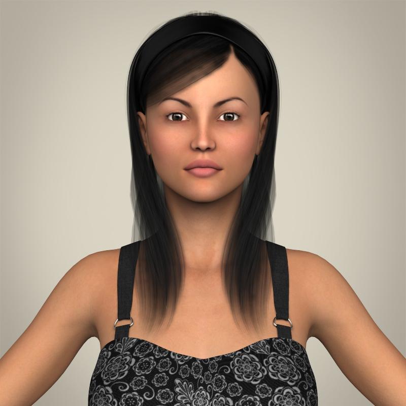 Realistic Pregnant Woman 3d model 3ds max fbx c4d lwo lws lw ma mb  obj 207441