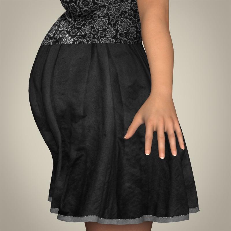 realistic pregnant woman 3d model 3ds max fbx c4d lwo ma mb texture obj 207444