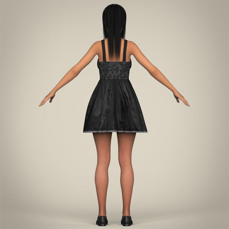 realistic pregnant woman 3d model 3ds max fbx c4d lwo ma mb texture obj 207452