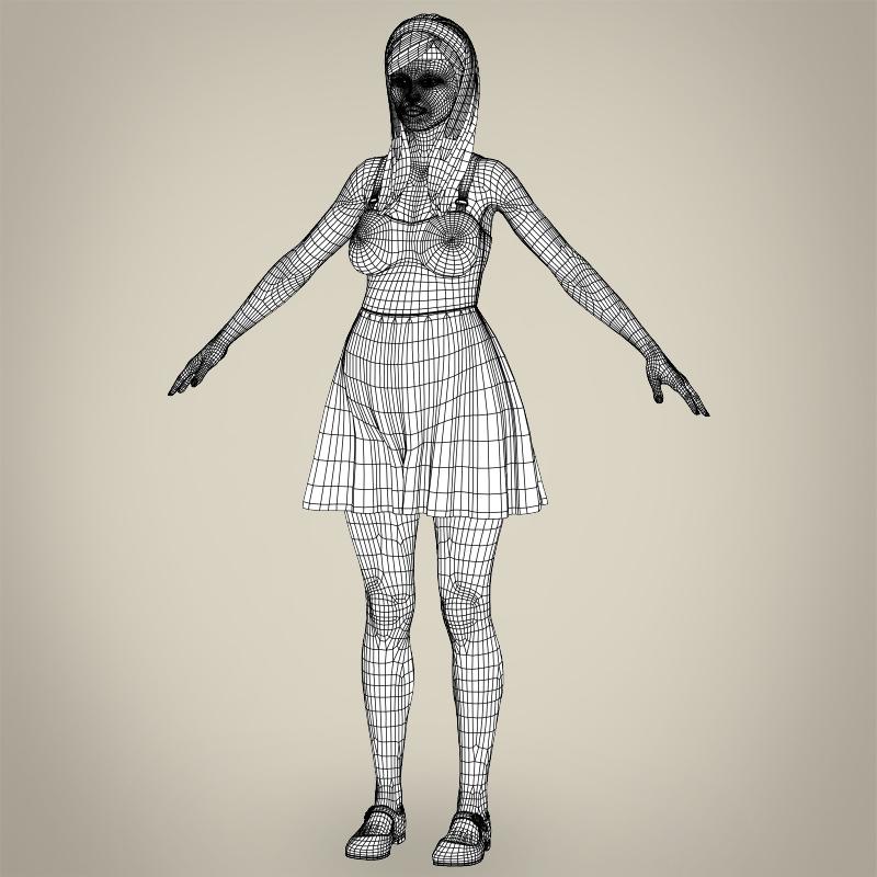 realistic pregnant woman 3d model 3ds max fbx c4d lwo ma mb texture obj 207461