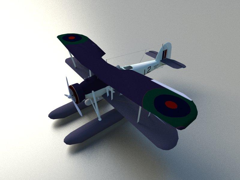 Seaplane Torpedo bomber 3d model 3ds dxf dwg  obj 207463