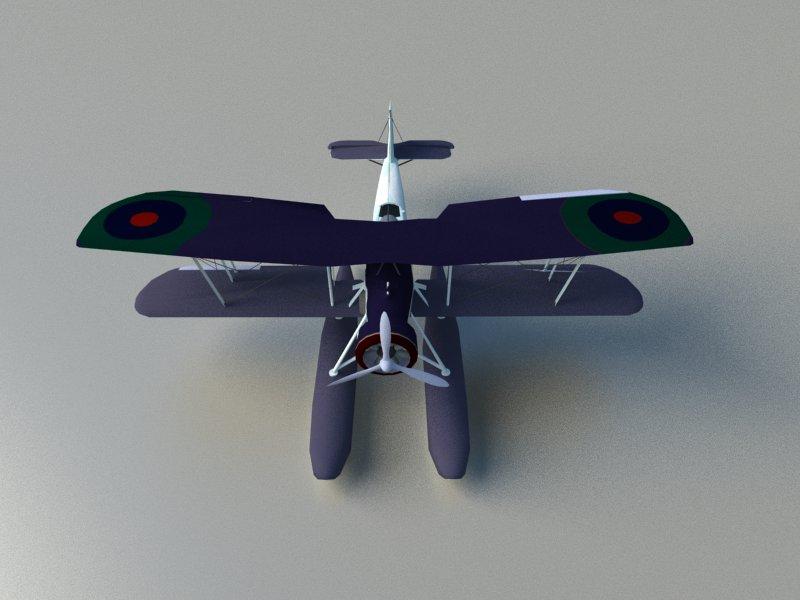 seaplane torpedo bomber 3d model 3ds dxf dwg skp obj 207464
