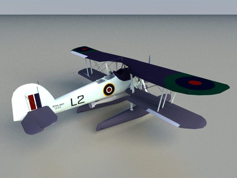 seaplane torpedo bomber 3d model 3ds dxf dwg skp obj 207465