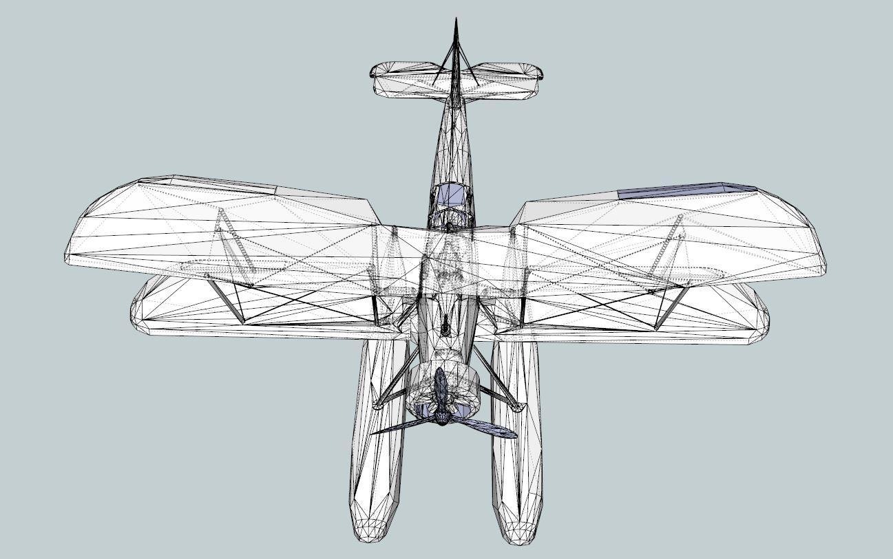 seaplane torpedo bomber 3d model 3ds dxf dwg skp obj 207468