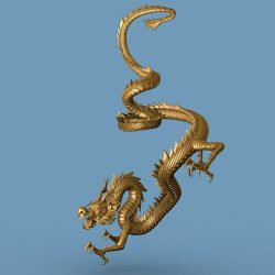 High detailed Chinese dragon 04 ( 360.88KB jpg by hpixel )